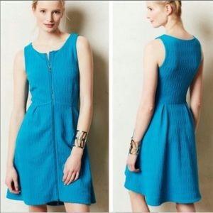 Anthropologie Leifsdottir Blue Dress 0 EUC